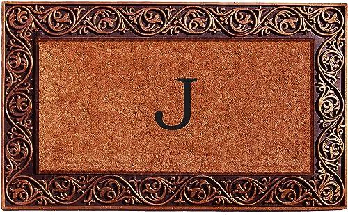 Home More 10003BRNZJ Prestige Bronze Monogram Doormat Letter J