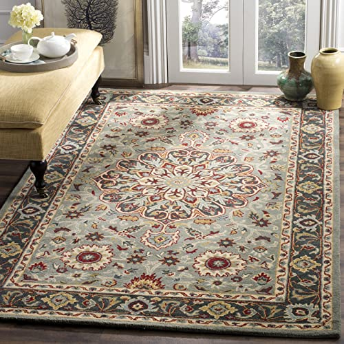 Safavieh Heritage Collection HG736A Grey and Charcoal Area Rug 4 x 6