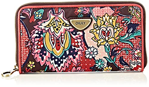 Oilily Travel Wallet, Cartera para Mujer, Burgundy 822, 20x10x3 cm: Amazon.es: Zapatos y complementos