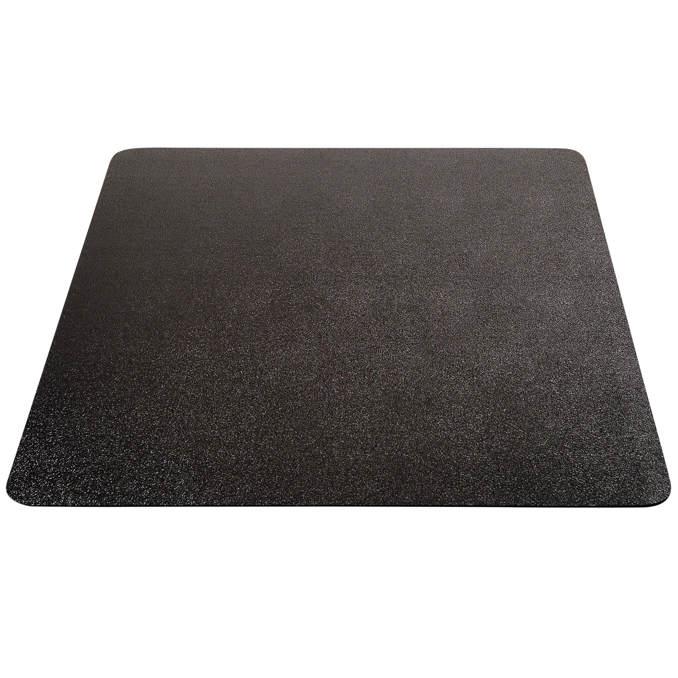 Deflecto EconoMat Black Chair Mat, Low Pile Carpet Use, Rectangle, Straight Edge, 45 x 53 Inches (CM11242BLKCOM)