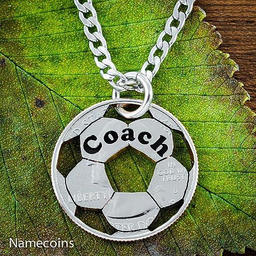 Amazon com: Soccer Coach Necklace, Custom engraved coach or