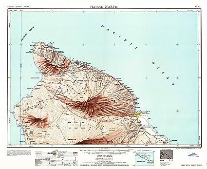 Amazon.com : YellowMaps Hawaii North HI topo map, 1:250000 Scale, 1 ...