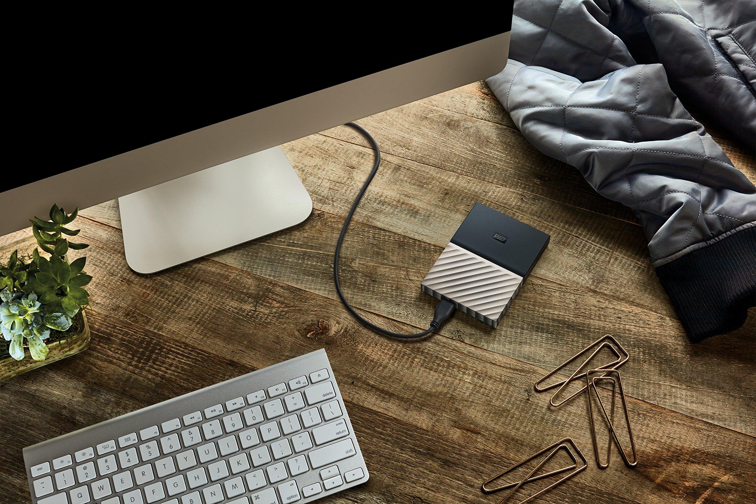 WD 1TB Black-Gray My Passport Ultra Portable External Hard Drive - USB 3.0 - WDBTLG0010BGY-WESN (Old Generation) by Western Digital (Image #6)