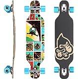 Star-Skateboards Premium Canadian Maple Drop Through Flush Cut Pro Longboard Skateboard für Kinder auch Anfänger ab ca. 6-8 Jahre ★ 65mm Kids Cruiser/Dancer Edition ★