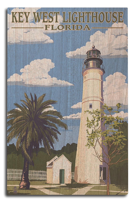 キーWest灯台、フロリダ日シーン 10 x 15 Wood Sign LANT-35290-10x15W B07365P4X9 10 x 15 Wood Sign