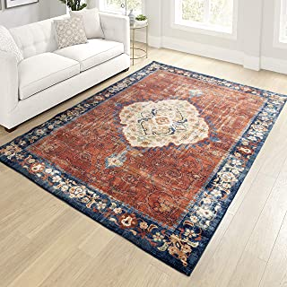 "product image for Orian Meadow Mattador Area Rug, 5'3"" x 7'6"", Red"