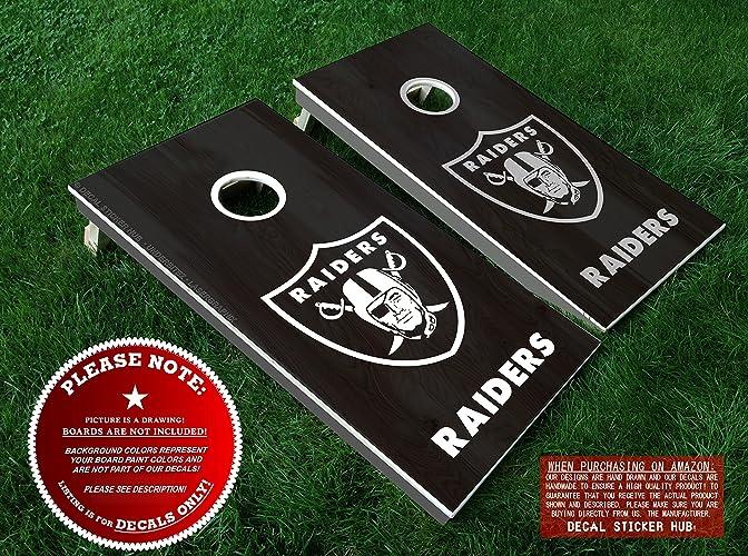 Amazon Oakland Raiders Cornhole Decals Diy Vinyl Stickers For