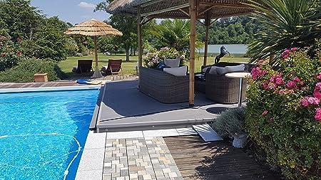 BodenMax LLSLAROMA-GOLDQ Baldosas de Cuarzo para terraza, jardines, balcones, piscinas, saunas, interiores y exteriores. Cuarzo dorado. Set de 8 baldosas de cuarzo de 30 cm x 30 cm x 2,5 cm.: Amazon.es: