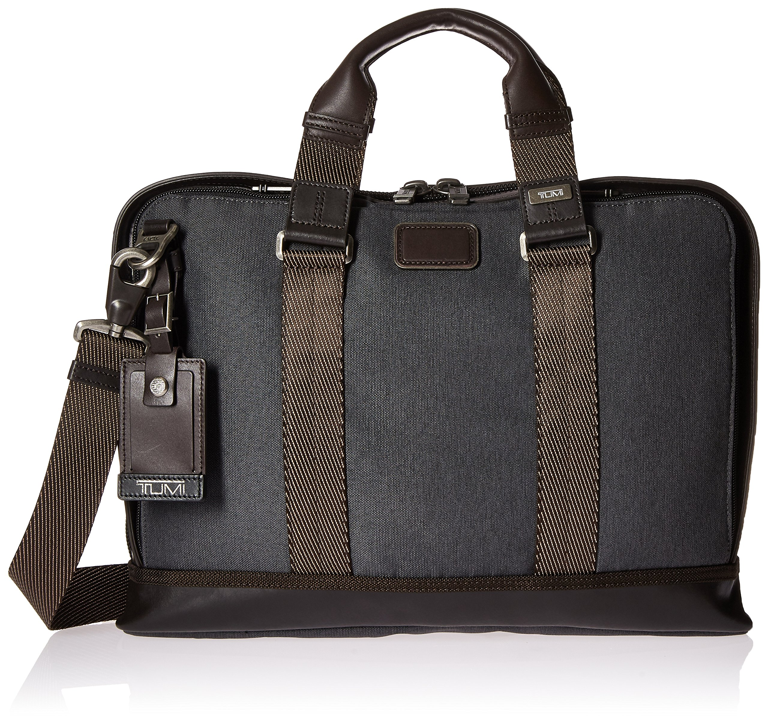 Tumi Alpha Bravo Andrews Slim Brief, Anthracite by Tumi