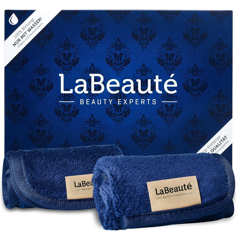 LaBeauté Toallitas Desmaquillantes (2 piezas) - toallitas limpiadoras y desmaquilladoras - Toalla de microfibra para limpieza facial - lavables y ...