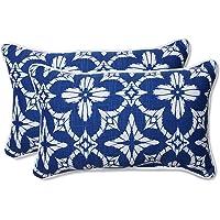 Pillow Perfect Outdoor/Indoor Aspidoras Rectangular Throw Pillow (Set of 2), Cobalt