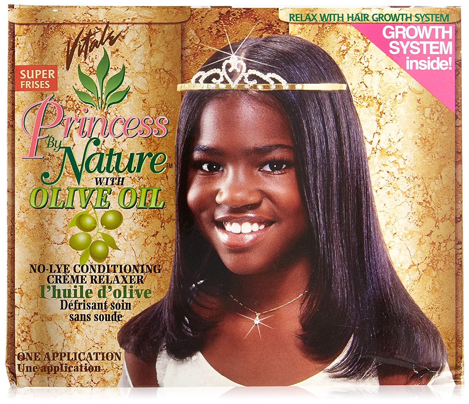 Vitale Olive Oil Princess By Nature Relaxer Kit, Super