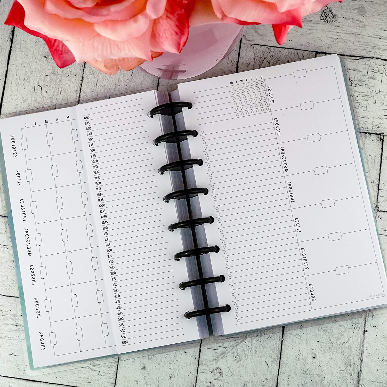 Janes Agenda Planner Inserts for use with Disc-bound The Awesome Planner Set Junior Size
