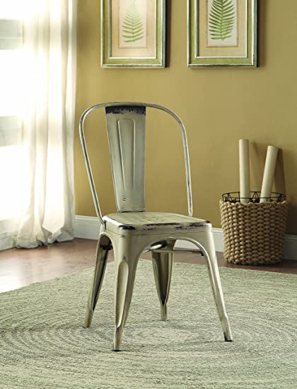 Bellevue Metal Dinning Chairs White (Set Of 4)