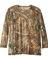 Carhartt Men's Big & Tall Force Cotton Delmont Camo Long Sleeve T-Shirt
