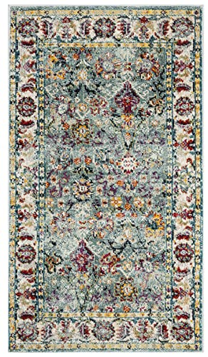 Safavieh Savannah Collection Blue Polyester Area Rug, 3 x 5