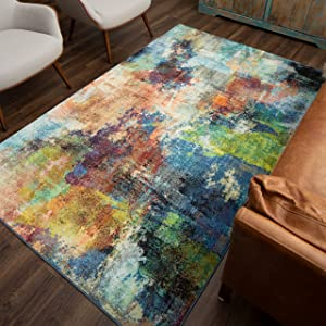 Mohawk Home Decollage Area Rug, 5'x 8', Multi
