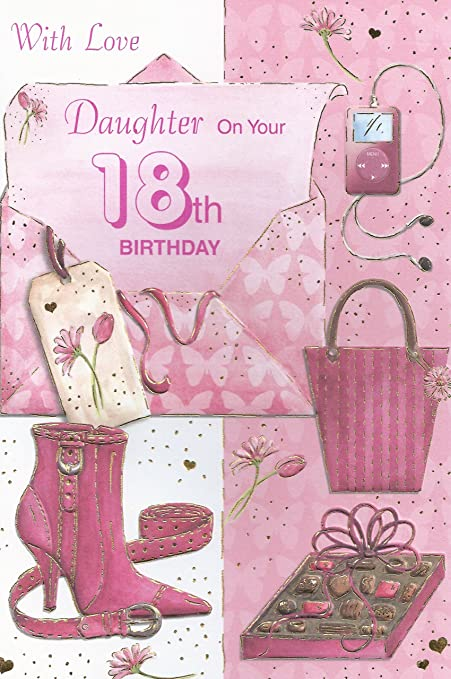 Amazon Special Daughter On Your 18th Birthday Card Kitchen