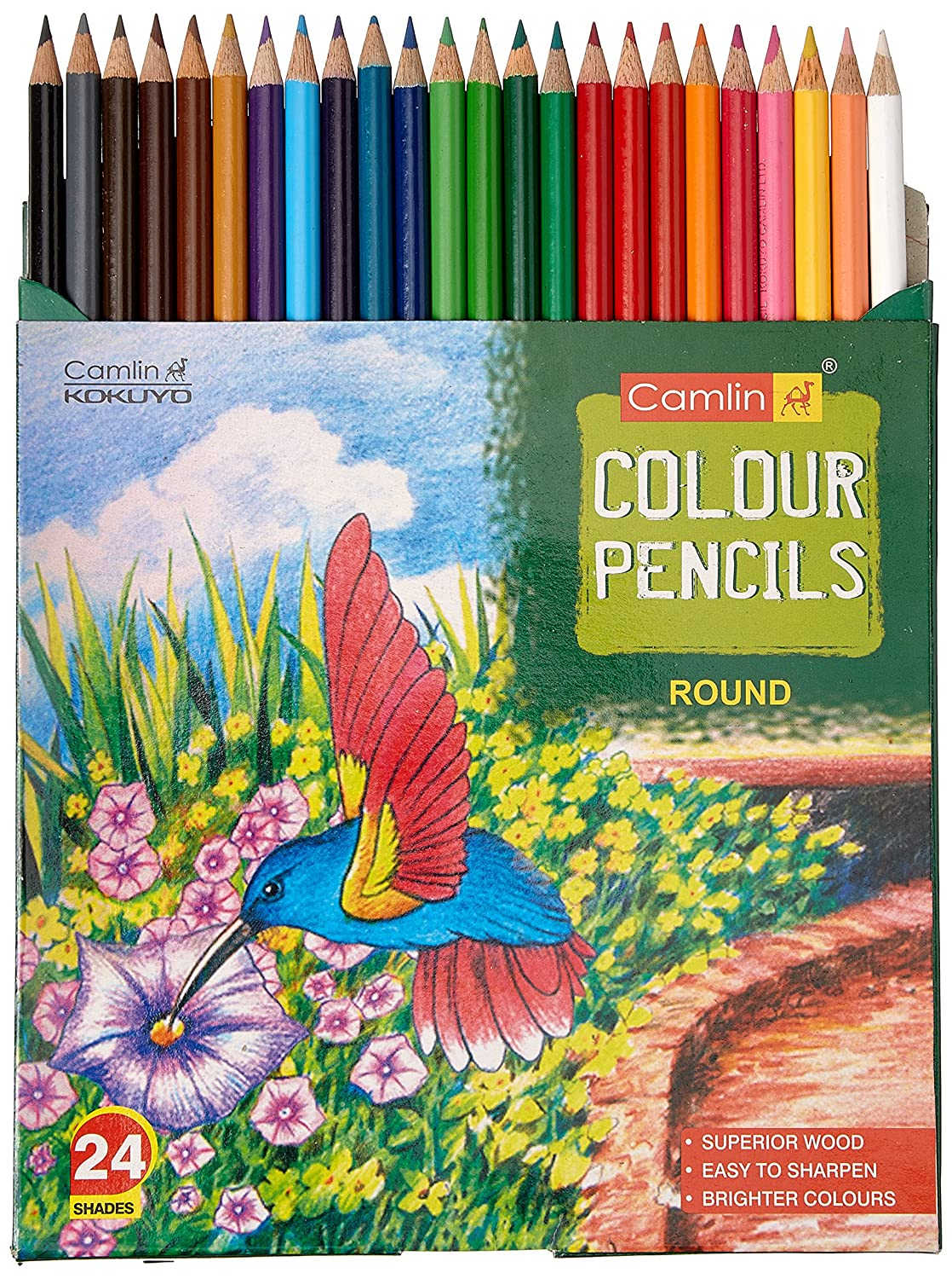 Camlin Colour Pencils Full Size - 24 Shades