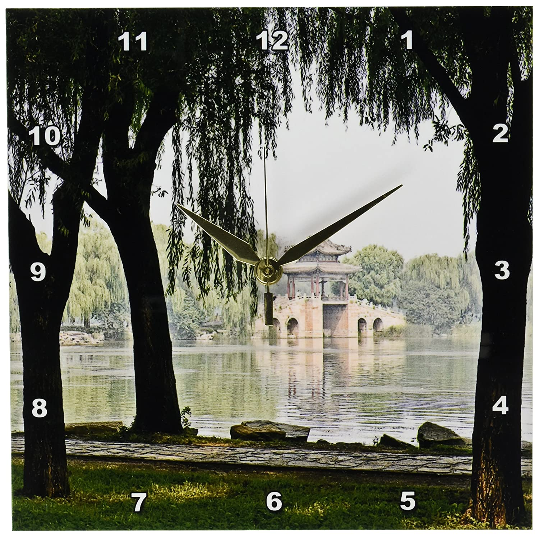 3dRose dpp/_13924/_1 Wall Clock Chinese Bridge 10 by 10-Inch