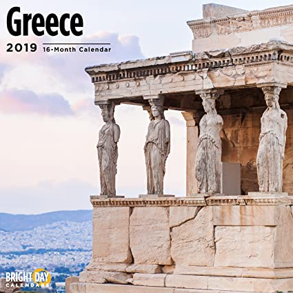 greece 2019 16 month wall calendar 12 x 12 inches