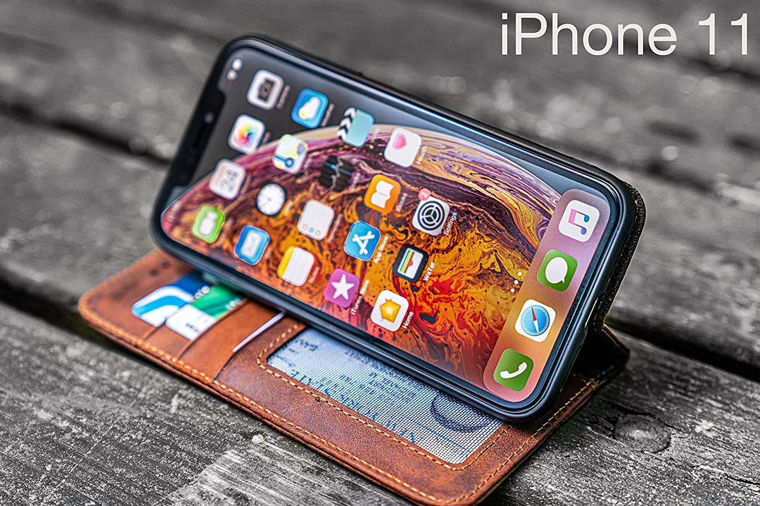 No.01 Leather iPhone 11 Wallet Case