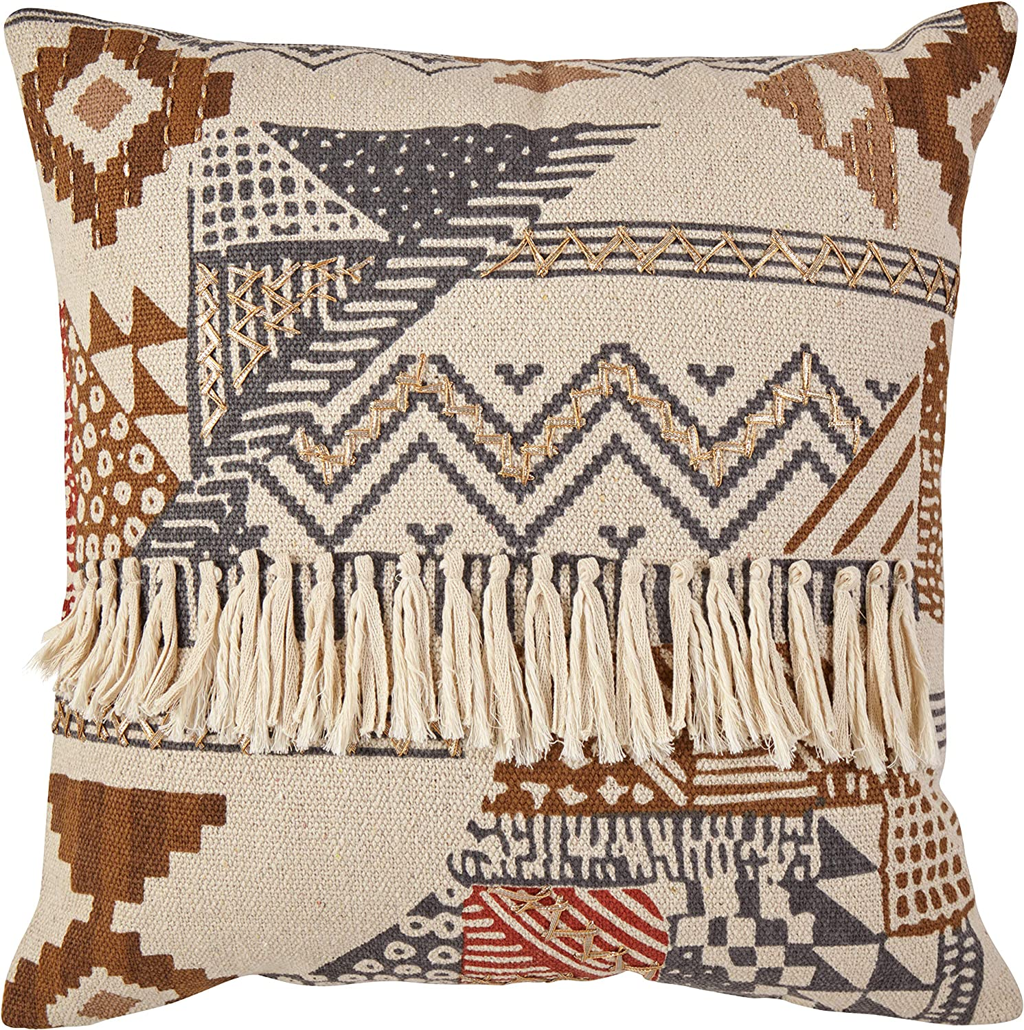 Amazon Brand Stone Beam Southwestern Throw Pillow 20 X 20 Inch Multicolored Home Kitchen