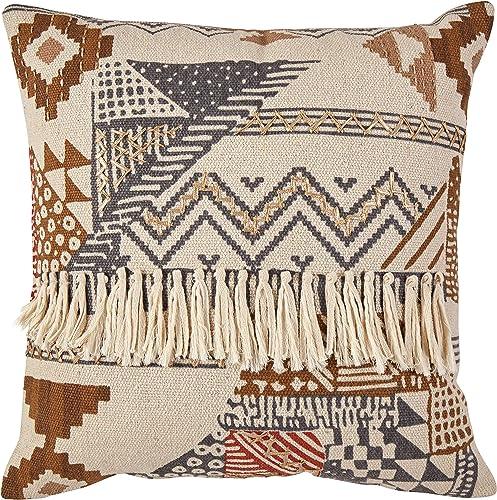 Amazon Brand Stone Beam Southwestern Throw Pillow – 20 x 20 Inch, Multicolored