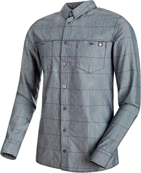 Mammut Alvra Camisa Cuello de Camiseta Polo Manga Larga Lana ...