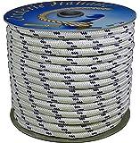 Corderie Italiane 006000761 Schiffsseil, 12 mm-20 m Weiß, mit blauen Akzenten