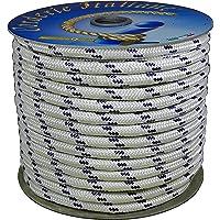 Corderie Italiane 006000761 Schepstouw, gevlochten, 12 mm, 20 m, wit met blauw schild
