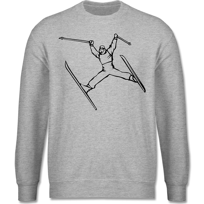Sport Kind - Ski Jump - Langarm Sweatshirt / Pullover für Jungs und Mädchen