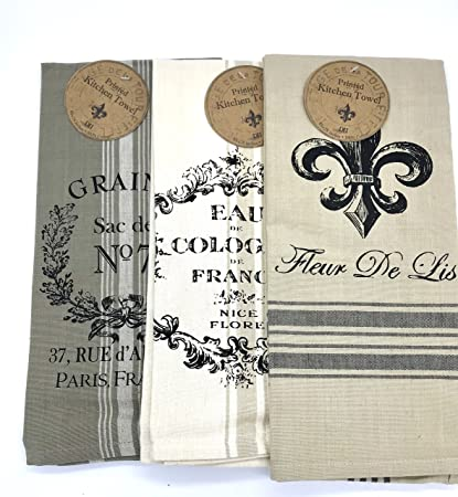 Amazon.com: Fleur De Lis Elegant Kitchen Towel Set: Home ...