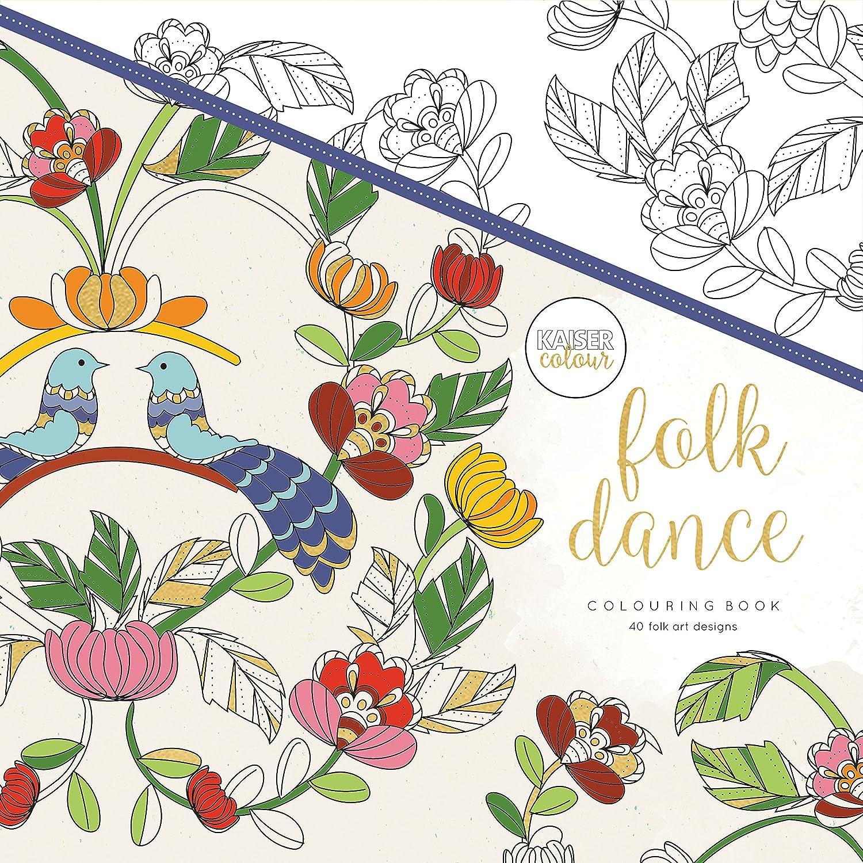Kaisercolour Perfect Bound Coloring Book 9.75x9.75-folk Dance