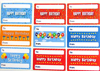 Image Unavailable Not Available For Color Happy Birthday Gift And Present Tags Colorful Greeting Stickers
