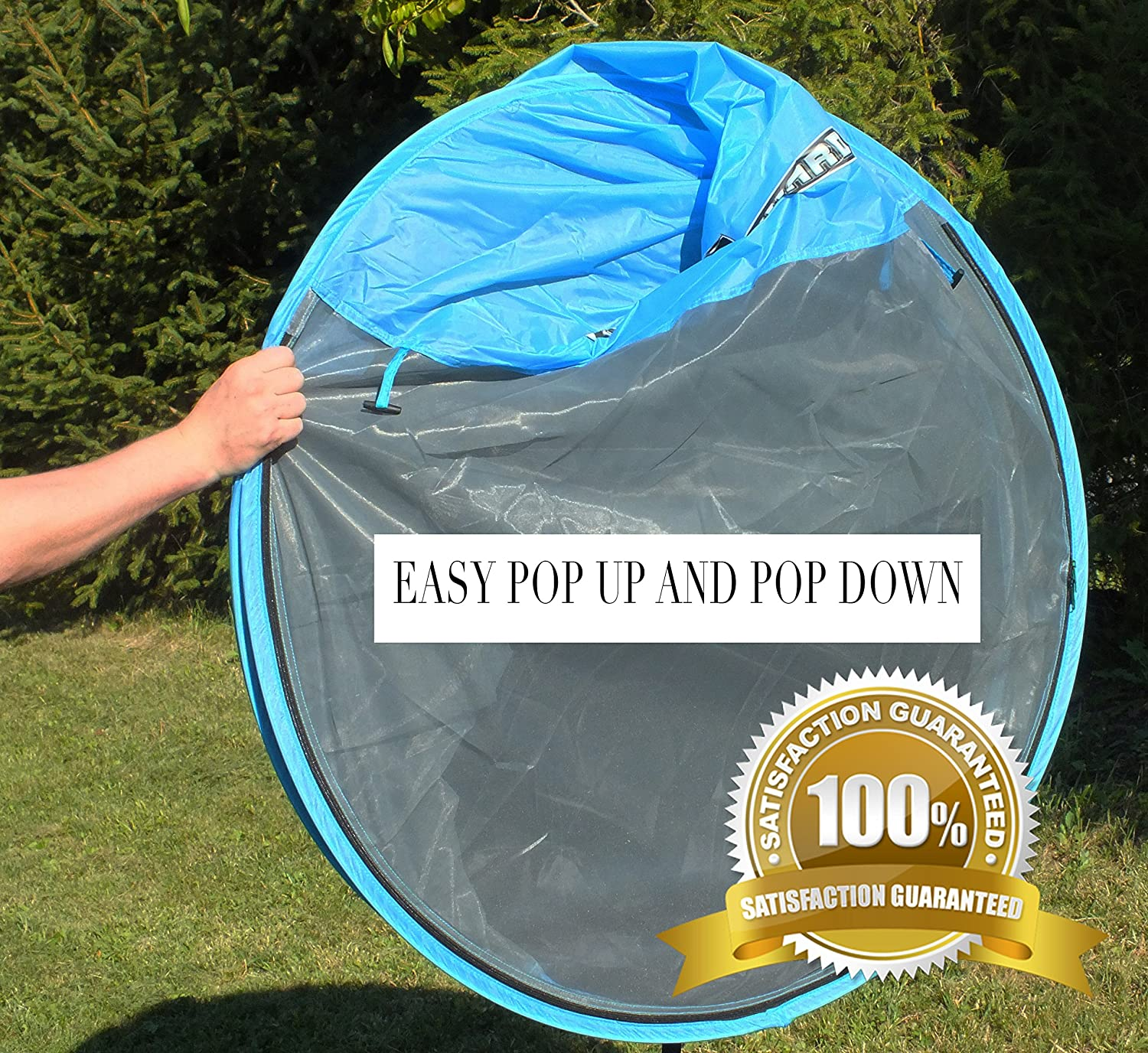 Gnat Guard Skyview Free-Standing Pop-Up Mosquito-Net Tent Blue Amazon.in Sports Fitness u0026 Outdoors & Gnat Guard Skyview Free-Standing Pop-Up Mosquito-Net Tent Blue ...