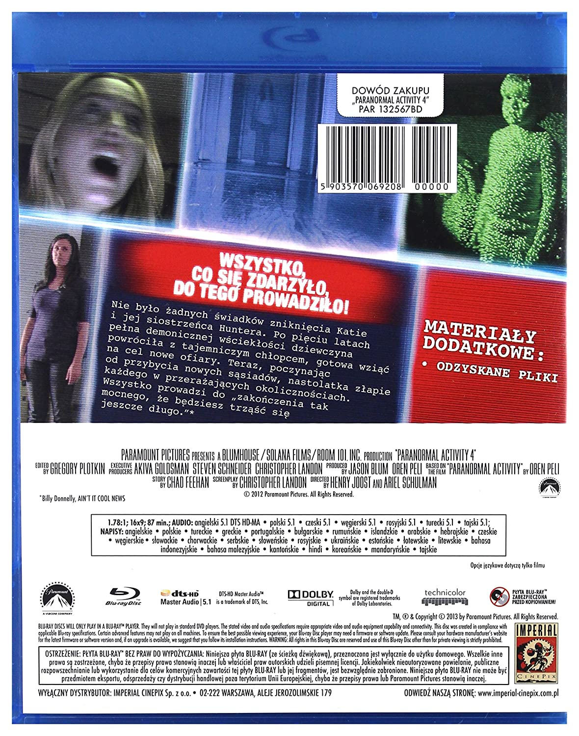 Amazon. Com: the paranormal activity collection [paranormal.