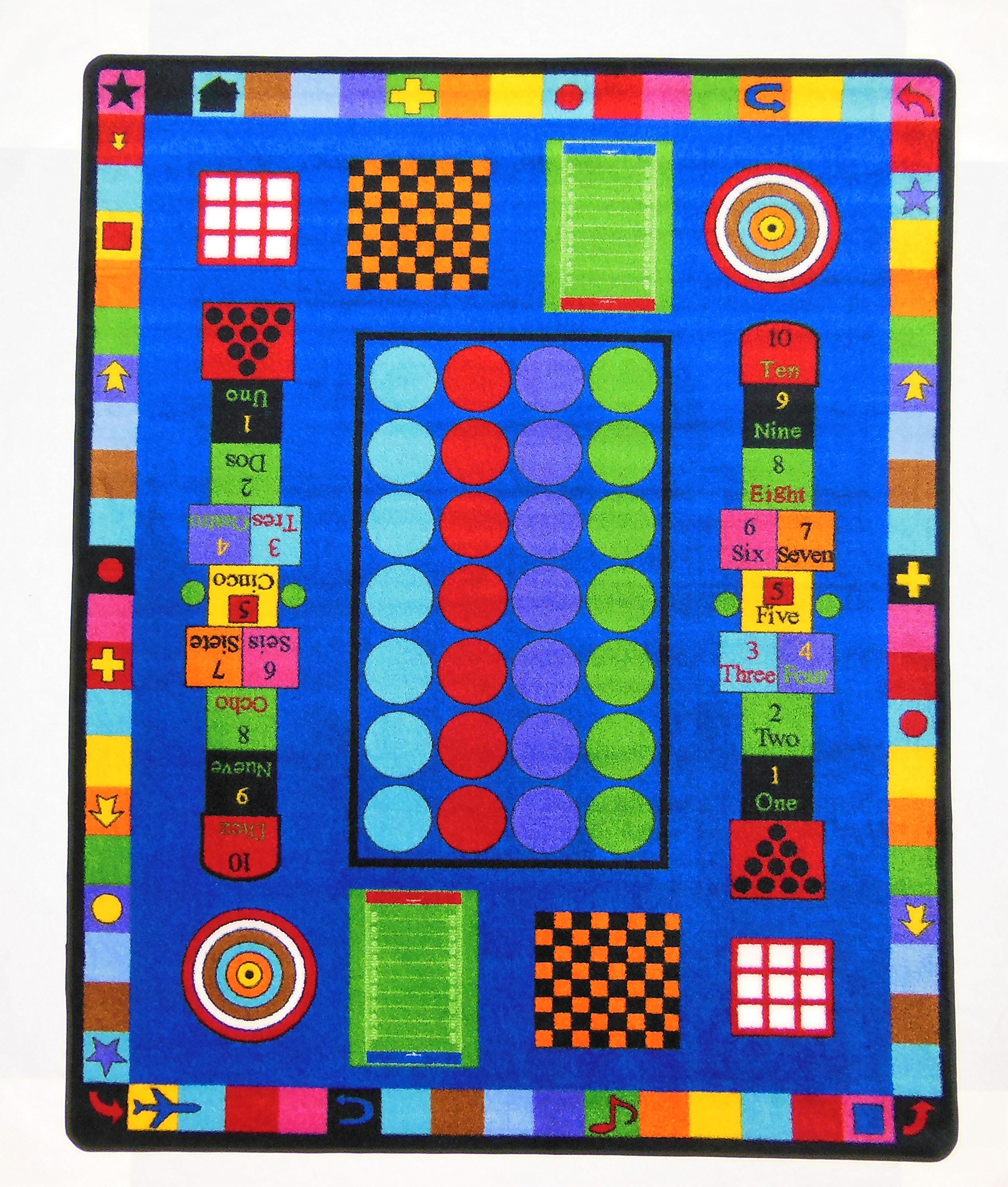 Kids World Carpets Game Time Tufted Nylon Children's Educational and Play Area Rug (5' x 8') by Kids World Carpets (Image #2)