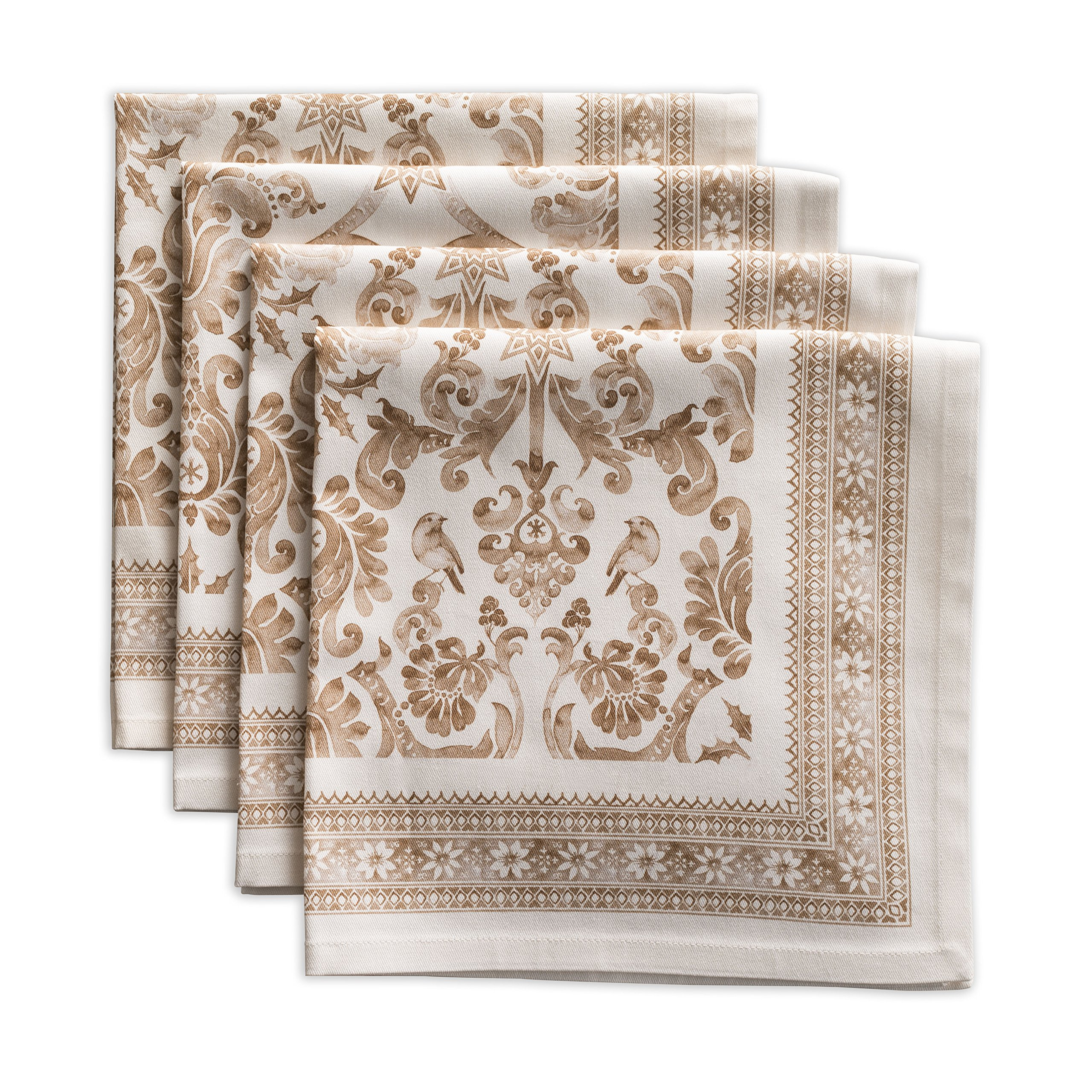 Maison d' Hermine Allure 100% Cotton Set of 4 Napkins 20 Inch by 20 Inch.