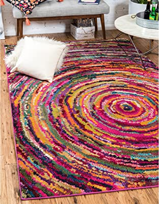 Unique Loom Turkish Barcelona Multi-colored Polypropylene Rug (10'5x16'4)