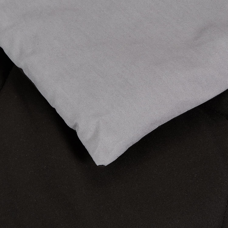 Basics Edred/ón de microfibra reversible 135 x 200 cm borgo/ña//gris