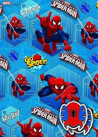 Disney Marvel Spider Man 2 x Blatt Geschenkpapier und 2 x