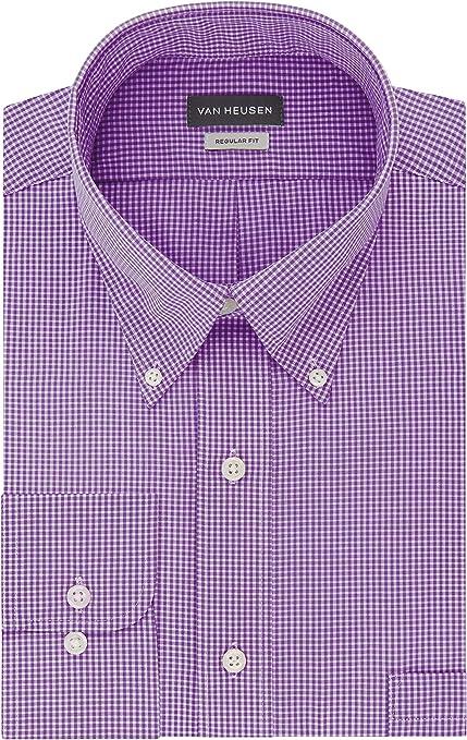 "~ NWT $50.00 Van Heusen Classic Fit Button-Down Dress Shirt ~ Large 42-44/"""
