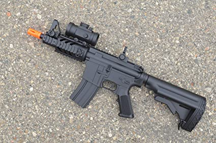 Amazon com : 2012 cqb 320-fps Airsoft Rifle m16/m4 Style red