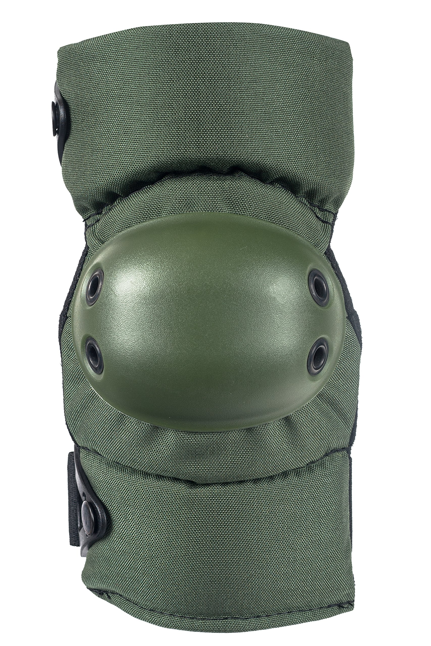 ALTA 53113.09 AltaCONTOUR Elbow Protector Pad, Olive Green Cordura Nylon Fabric, AltaLOK Fastening, Flexible Cap, Round, Olive Green