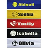 Custom Personalized Sport Cotton Stretch Headband Embroidered With Your Text