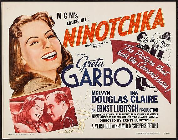 Ninotchka Greta Garbo vintage movie poster print