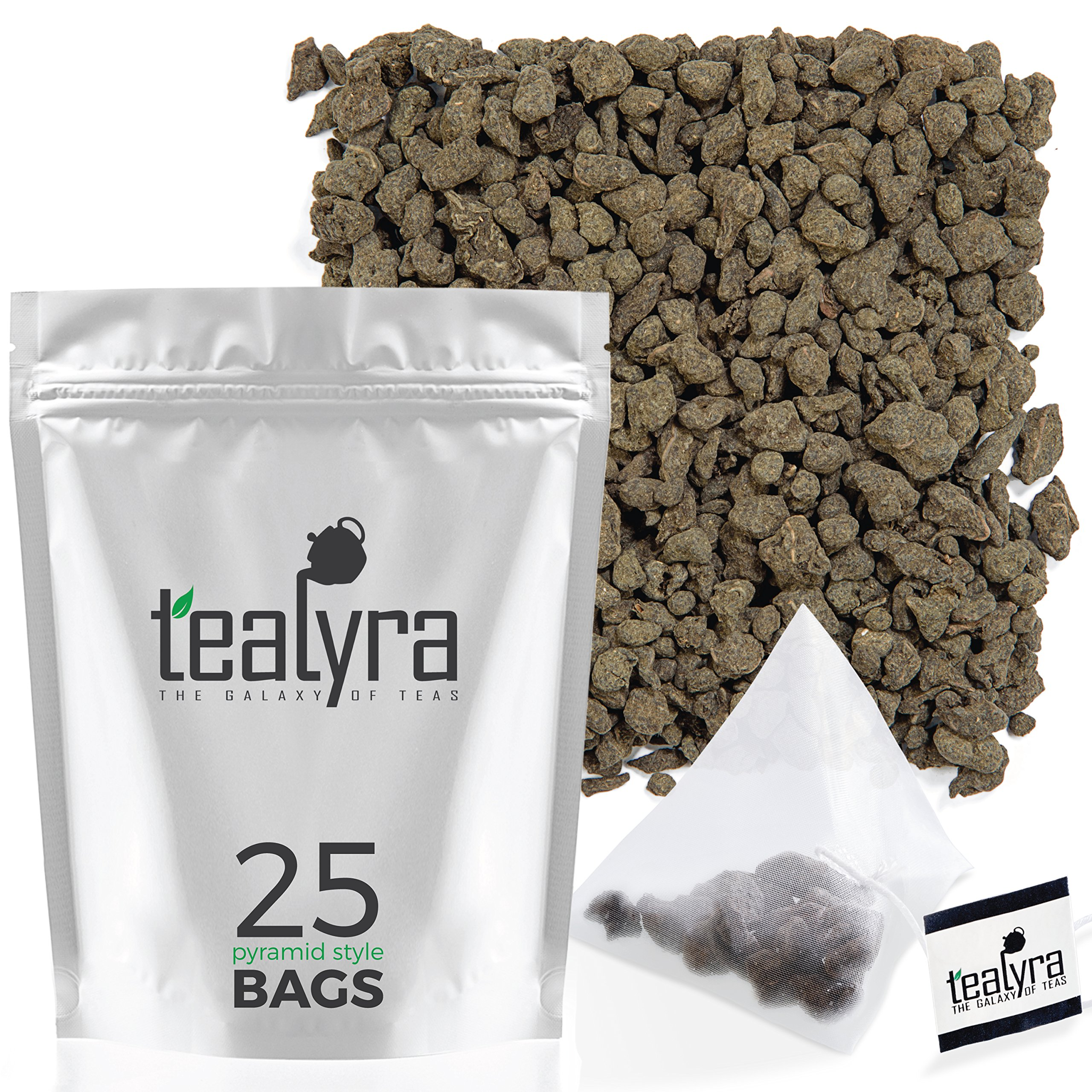 Tealyra - Imperial Ginseng Ren Shen - 25 Bags - Oolong Loose Leaf Tea - Best Ginseng Tea - Energy Boost - Healthy Drink - Pyramids Style Sachets
