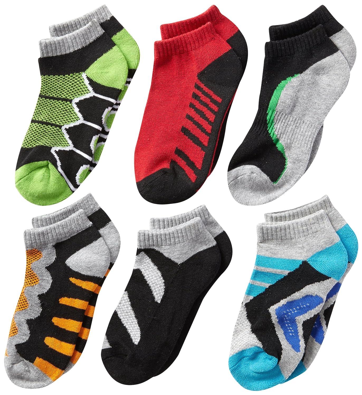 Jefferies Socks Little Boys' Tech Sport Low-Cut Socks Six-Pack Jefferies Socks Boys 2-7 1165