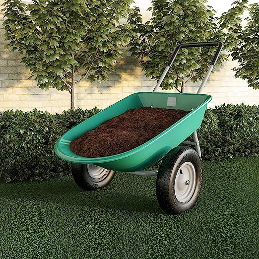 Pure Garden (PURNC) 50-LG1079 Carretilla de jardín de 2 Ruedas – Carro de volcado de Gran Capacidad para Bricolaje residencial, jardinería, Cuidado del césped y remodelación: Amazon.es: Jardín